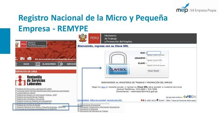 Requisitos REMYPE